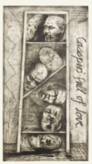 「Casspirs Full of Love」, drypoint etching, 167X94cm, 1989